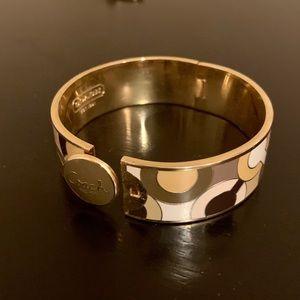 Coach Hinge Gold Bangle Bracelet